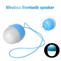 BS-011 Wireless Bluetooth Speaker Mini Night Light Outdoor Egg Subwoofer - Blue