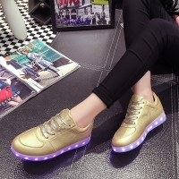 Spring USB Charging Light Emitting Sneakers Shoes Women Shoes LED Fluorescent Lamp 288 Flash Lights Shoes Student
