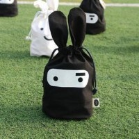 Ninja Rabbit Cute Fabric Pouch Beam Port Pouch Bags Finishing Debris Bags Home Daily