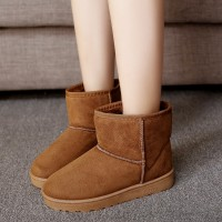 2016 Winter Plus Velvet Warm Snow Boots Female Heavy-bottomed Boots Female Boots Round Flat Shoes Cotton Boots