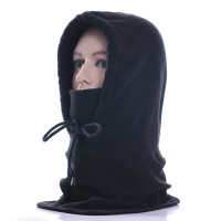 Outdoor wind and cold thickening Baotou masked fleece riding hoods mask skiing collar warm hat winter
