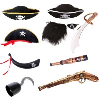 Dress Cosplay Halloween Props Pirate Captain Pirate Hat Pirate Props Pirate Knife