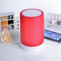 HY-BT819L Crack Colorful Light / Smart Touch Night Light / Card Speakers / Bedside Lamp / Language Calls / Wireless Speakers Stereo - Red