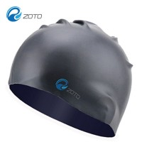 High-end Swimming Hoods Monochrome Adult Anti-skid Soft Ear Silicone Caps