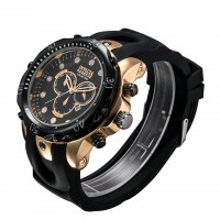 Hot Watch Rose Gold Silicon Leisure Sports Watch Calendar, Luminous Watches, Decoration