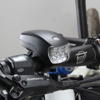 Starway Riding Bicycle Headlight Lamp Mounted Waterproof 5 LED Night Light Earthquake Warning Light Riding Equipment