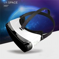 3D VR Glasses 3D Video Game Virtual Reality Helmet White and Black