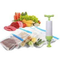 Dry Goods Vacuum Preservation Bag Food Storage Suction Sealed Bag - Green Pump