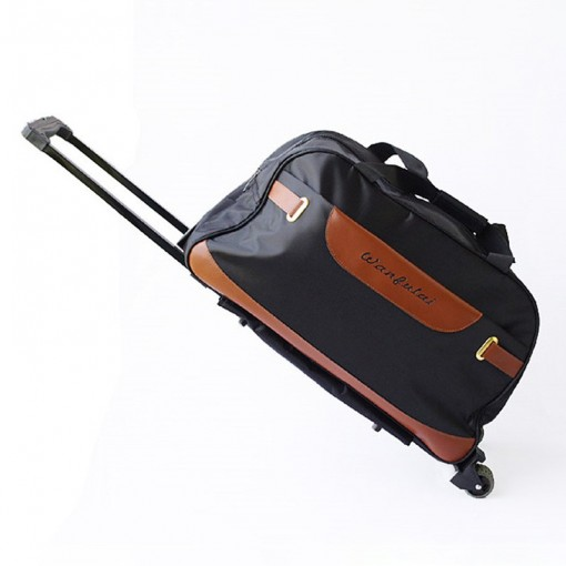 2017 new men and women waterproof travel bag large capacity Oxford cloth rod package
