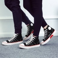 Autumn and winter new men and women to help high-canvas shoes tide shoes Korean flat shoes lovers fashion shoes