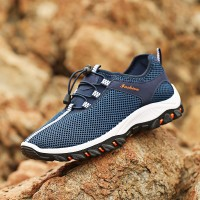 Summer Men's Shoes Breathable Mesh Outdoor Hiking Shoes Mesh Net Shoes Sneakers