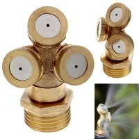 Brass Agricultural Mist Spray Nozzle Garden Irrigation System (Tri-Nozzle)
