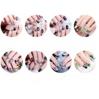 20pcs random delivery with different patterns of nail art skills on Artificial Nail Decals Manicure Manicure flower decals