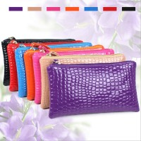 Hot Sale High Quality Colorful bowknot pendant PU Leather Long Design Women Wallet Coin Purse