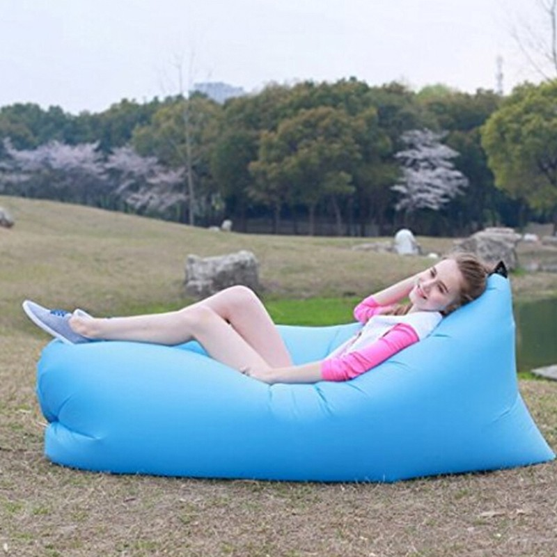 Inflatable Folding Sleeping Lazy Bag Waterproof Portable Air Sofa ...