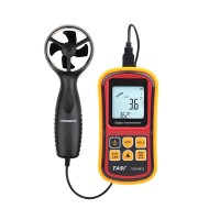 Anemometer 30m/s LCD Digital Thermometer Electronic Hand-held Wind Speed Gauge Meter