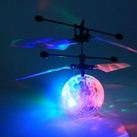 2016 New Fashion Children Flying RC Ball Led Flashing Light Aircraft Helicopter Induction Toy Free Shipping