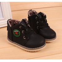 Size 21-30 New 2015 Spring Autumn Warm Ankle Kids Boots Fashion Plus Velvet Boys Girls Shoes Children Snow Boots
