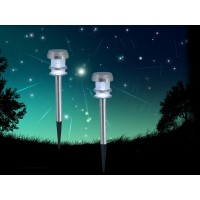 YINARTS Set of 2 stainless steel solarlight with superbright LED light