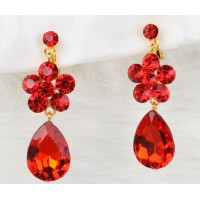RED CZ Jewellery earring