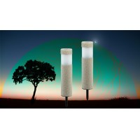YINARTS Stone outlooking solar Pathway Bollard with superwhite LED light