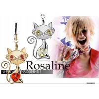 Cute Cat crystal mobil chain