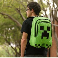 Minecraft Backpack Game My World creeper backpack Children Kids School Bag Boys Mochila Double Shoulder Bag Block Coolie Strange schoolbag