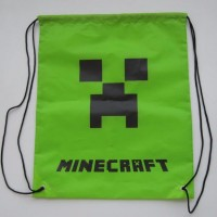 2015 1piece Minecraft Minions Kids bags Drawstring Backpack Bags ShoppingTraveling/GYM bags kids gift 34*27cm