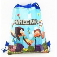 2015 Minecraft Stylish Holographic Creeper Backpack Drawstring Bag Printing Mochila Cute Storage sac a dos Fanny Back Pack
