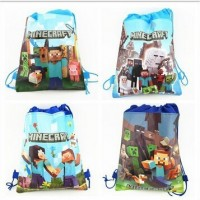 minecraft Minions Kids bags Drawstring Backpack Bags minion ShoppingTraveling/GYM bags kids gift 34*27cm