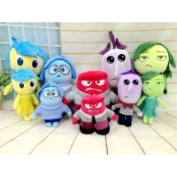 5pcs/lot 2015 New Hot Movie Inside Out Plush Toys Stuffed Doll Anger Joy Fear Disgust Sadness for Kids children Brinquedos Gift