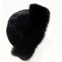 2015 New Design Super Quality Winter Genuine Sheepskin and Raccoon Fur Women Bucker Hat