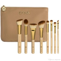 Hot 8PCS ZOEVA BAMBOO MAKEUP BRUSHES SET Luxury Beauty Powder brush Cosmetic DHL free shipping .