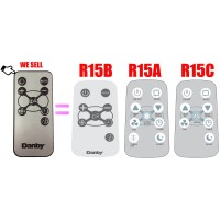 Replacement for Danby ArcticAire Air Conditioner Remote Control R15B ( R15A R15C) Works for DAC6010E DAC6011E DAC8010E