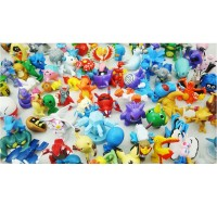 144pcs/lot Pokemon wholesale More style New Cute Monster Mini figures toys Random brinquedos P602 free shipping
