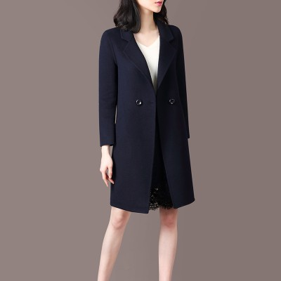Dark Blue Wool Women Winter Elegant Coat LLM1001Apparel<br>Dark Blue Wool Women Winter Elegant Coat LLM1001<br>