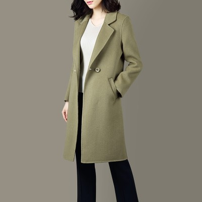 Green Wool Women Fashion Elegant Coat LLM1003Apparel<br>Green Wool Women Fashion Elegant Coat LLM1003<br>