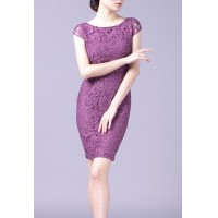 Purple Lace Elegant Party Summer Women Pencil Dress SIL1016Apparel<br>Purple Lace Elegant Party Summer Women Pencil Dress SIL1016<br>