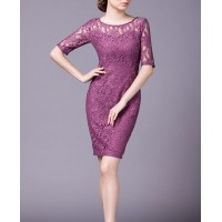Purple Lace Elegant Party Summer Women Pencil Dress SIL1014Apparel<br>Purple Lace Elegant Party Summer Women Pencil Dress SIL1014<br>