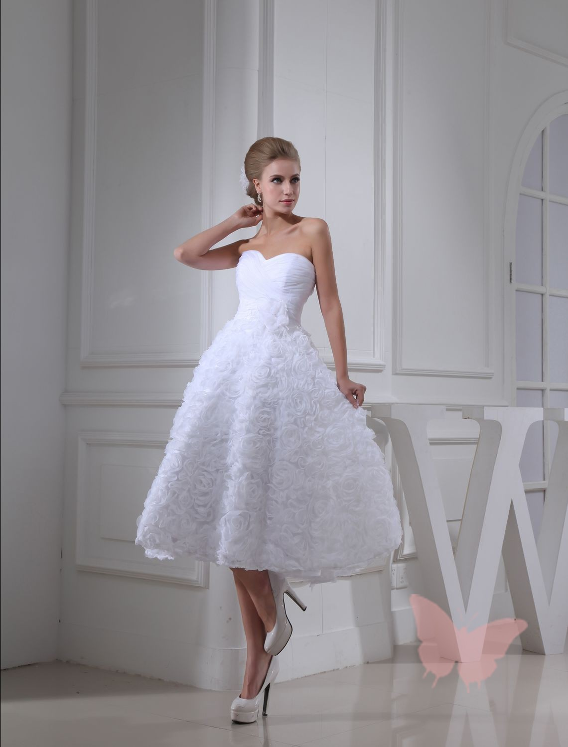 new 2014 white short wedding dresses the bride sexy lace wedding dress bridal gown plus size
