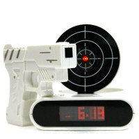 Unique LCD Gun Target Shooting Alarm Clock Watch for shooting enthusiasts Upscale minecraft digital clock & despertador clocks