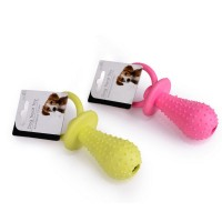New Rubber Pacifier for Pet Toys Dog Cat Puppy Chew Toys with Bell Sound Inside Squeak Toys Pet
