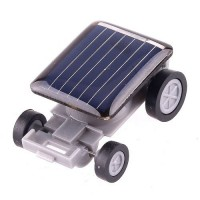 Novelty Solar Power Mini Car Toy Gift for Children Above 3 Years Old