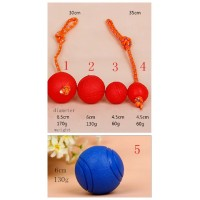 Golden retriever dog toys solid elastic training pet toy ball Tactic large dog bite resistant rubber ball molar