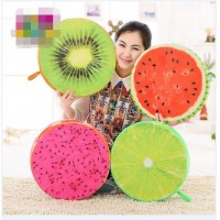 2015 New Plush toys round cushion pillow simulation fruit chopping board waist pillow stump butt pad creative pillow waist