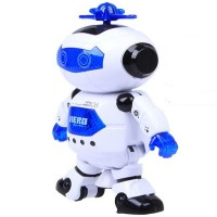 Electric Smart Space Walking Dancing Robot Children Kids Music Light Toys Free Shipping