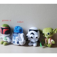 Star Wars Force Awaken 18cm Darth Vader Anakin Skywalker Yoda plush toys doll dark warrior R2D2 Trooper brinquedos Toys L358