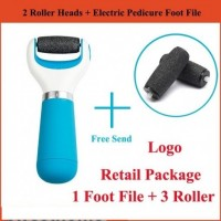 Feet Care Skin Care Tools Machine Foot Dead Removal Pedi Electronic + 2 Replacement Roller Heads