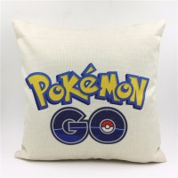 pokemon go design linen throw pillow case pokemon go game theme soft cotton cushion pillow cover 45*45cm