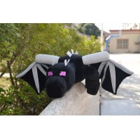 60cm Big Size Minecraft Ender Dragon Plush Doll Soft Black Minecraft Enderdragon PP Cotton Minecraft Dragon Toys A10